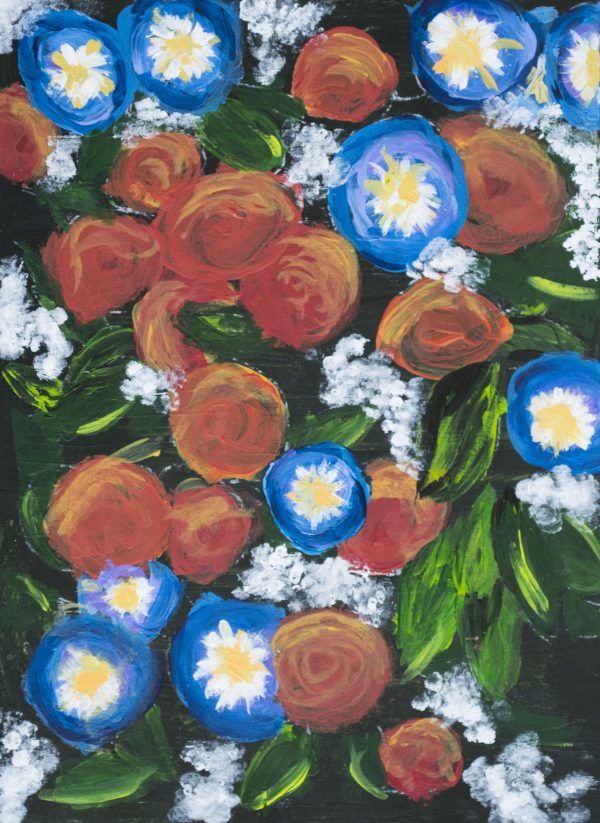 ADM Flowery Bunch 9×12 acrylic $40 9-17