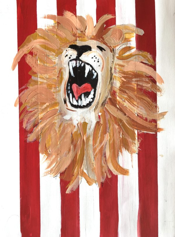 AdM The Lion Tamer 9×12 acrylic $50 5-19
