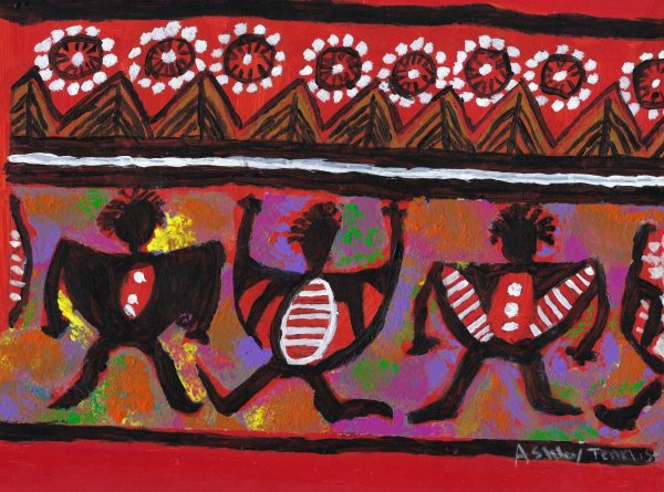 AT colorful african print 9×12 mixed $40 8-16