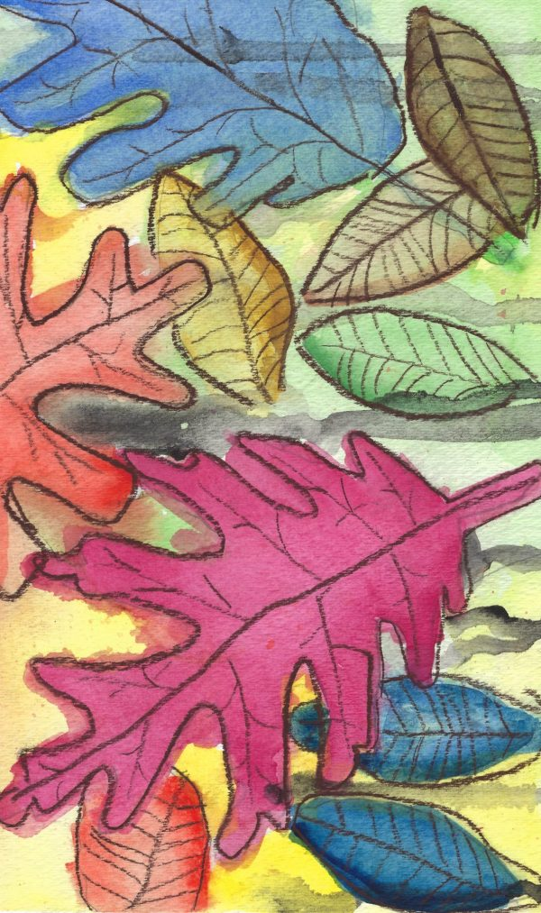 WS Colorful Leaf Illustration 9×12 Mixed $35 01-16