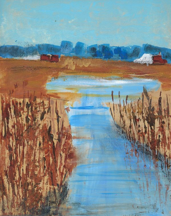 WS DownTheCreekAwaitsTheLake 9×12 Mixed $35 10-16