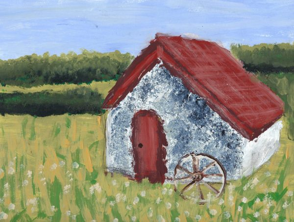BW A Country Home 9×12 Acrylic $40 1.2020