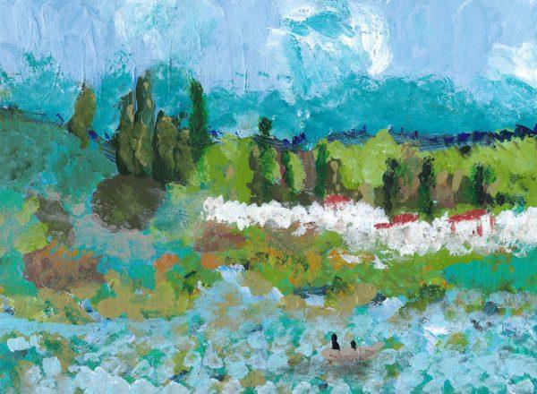 BrS Peaceful Field 9×12 acrylic $40 1-18