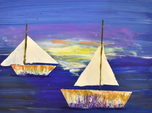 BrS We Will Sail at Dawn 11×14 acrylic $60 6-19