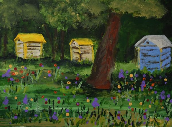 CG Bee Homes 9×12 Acrylic $50 6-17