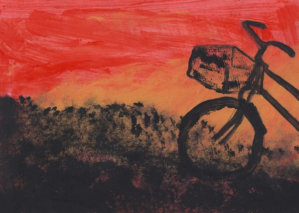CH Bicycle Sunset 9×12 acrylic $40 4-18