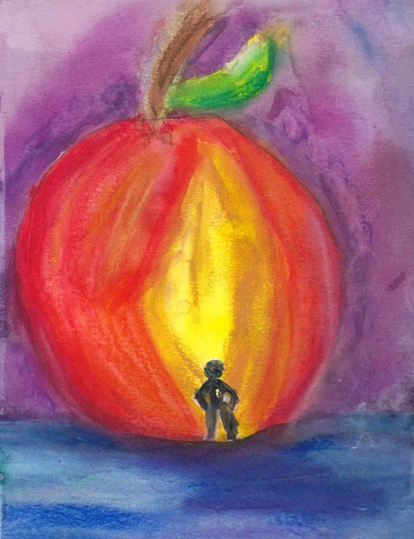 TS the gaint peach 9×12 mixed $45 2-20