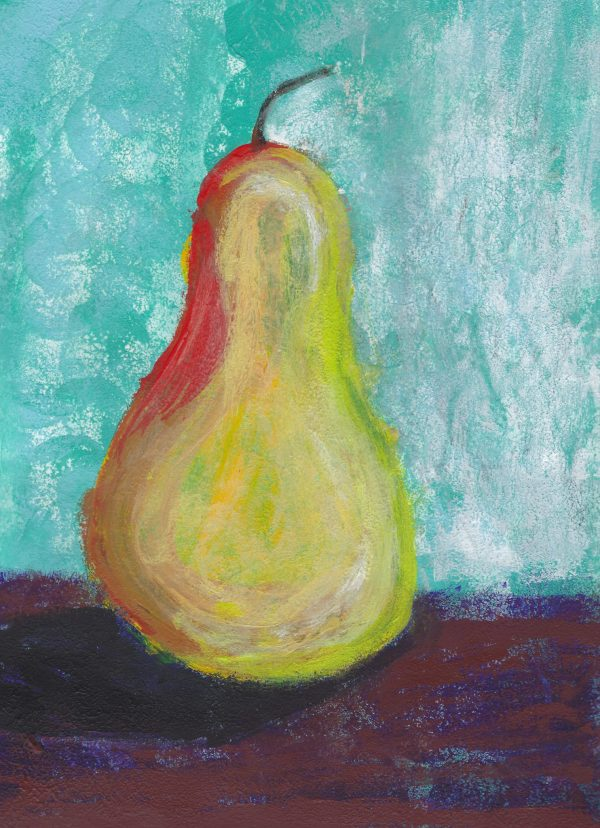 CH There is a Pear 9×12 acrylic $45 4-17