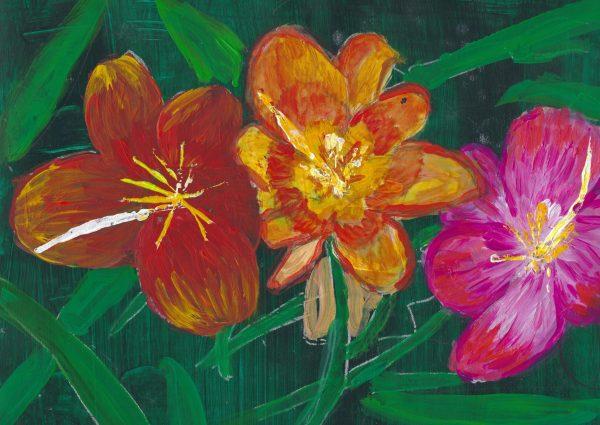 DS Hawaiian Garden 9×12 acrylic $50 8-17