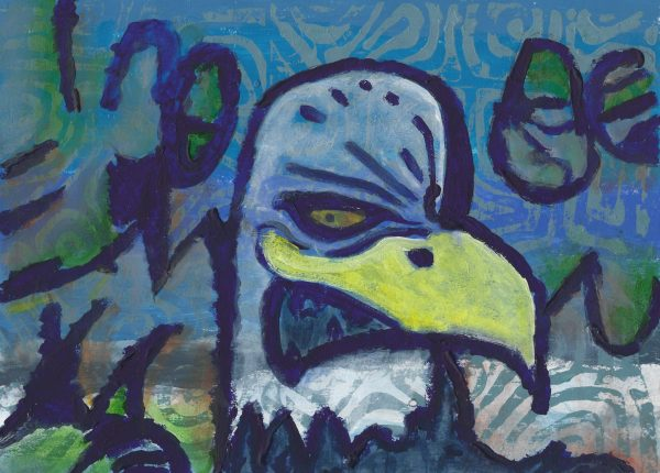 DaK Angry Eagle 9×12 mixed $40 10-18