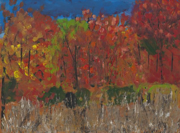 EG Crimson Fields 9×12 acrylic $45 10-16