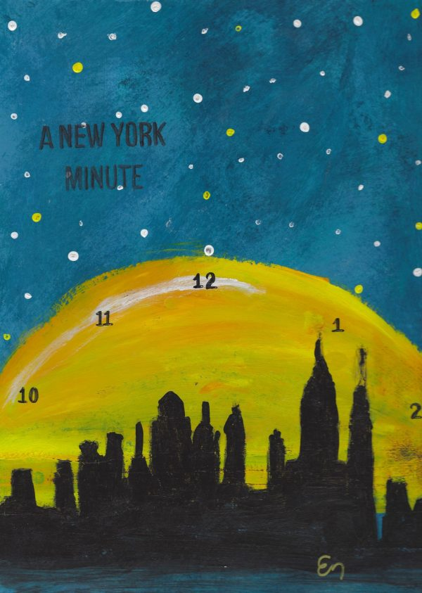 EH A New York Minute 9×12 mixed $45 6-16
