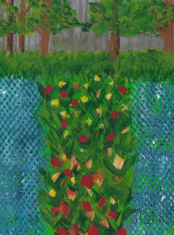 JO John's Garden 9×12 acrylic $50 7-17