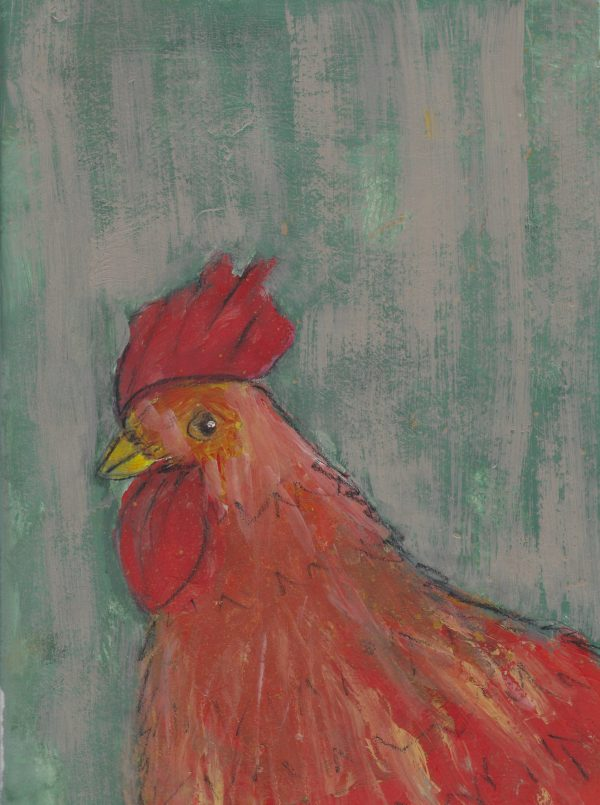 JS Red Rooster, Red Rooster 9×12 mixed $45 2-17