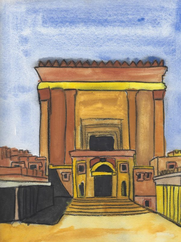 KH Herod's Temple 9×12 mixed $50 10-16