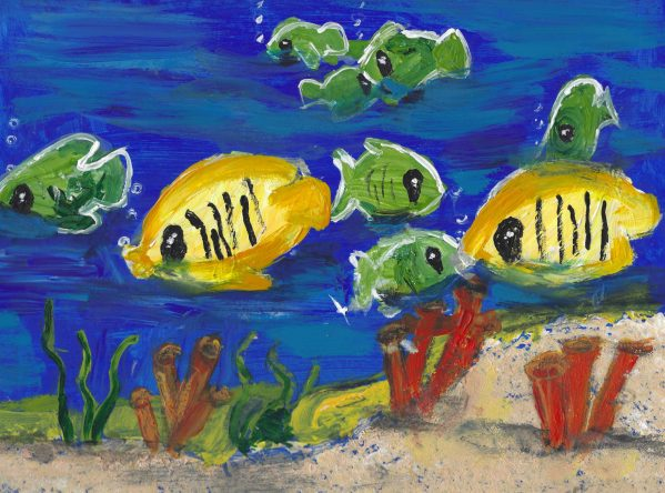 RE Life Under the Sea 9×12 acrylic $50 7-19