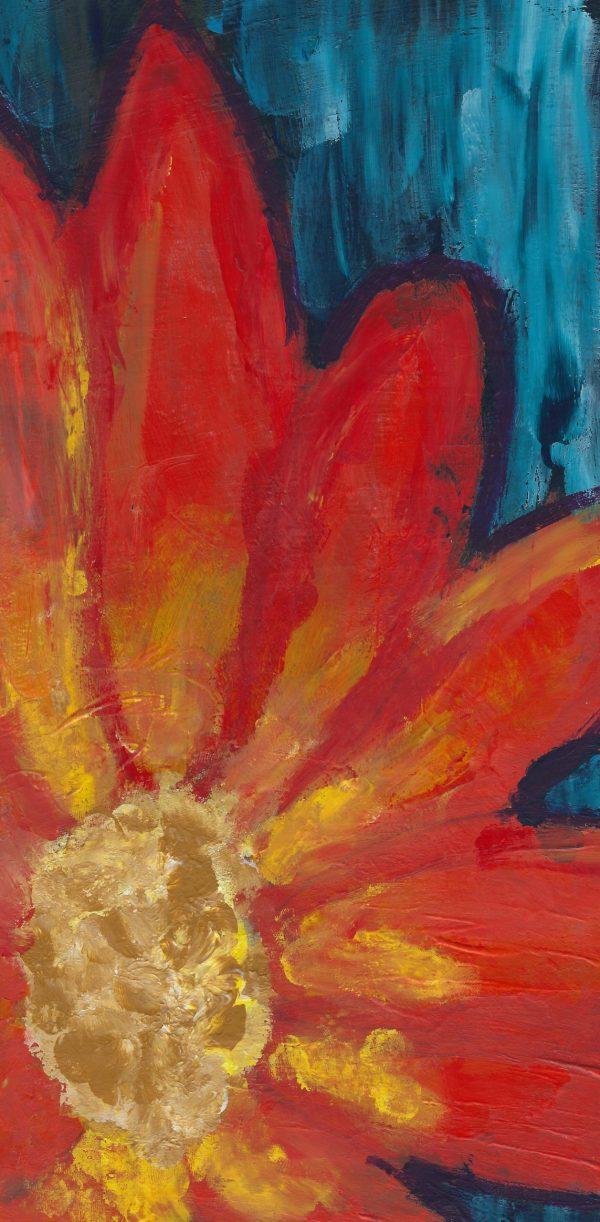 SaL Fireburst Flowers 6×11 acrylic $55 9-19
