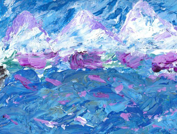 ShL choppy waters 9×12 acrylic 3-20 $50