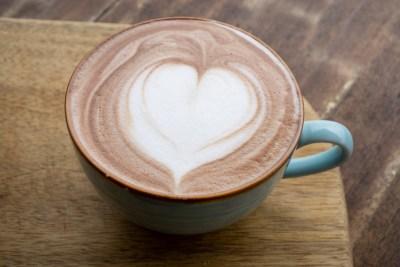 coffee mug with heart