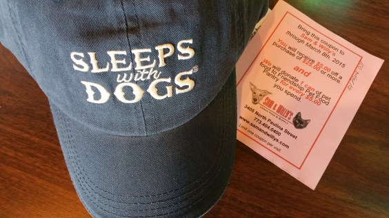 Sam & Willy's Sleeps With Dogs hat / For the Love of Pets 2015