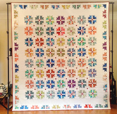 """2016 Raffle Quilt, """"Carnival"""" -- Front View"""