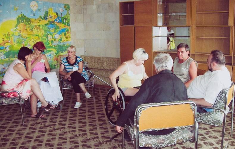 AVP workshop with disabled refugees, Odessa