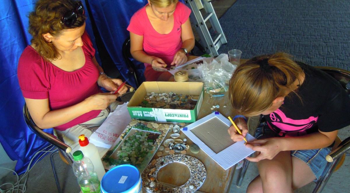 Preparing a craft activity
