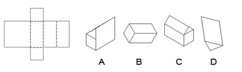 Which diagram results from folding the diagram on the left?