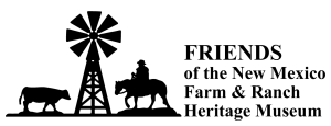 Friends of the New Mexico Farm and Ranch Museum logo, horizontal
