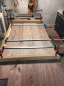 Glue up of the countertop