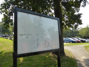 Unused board at Appley, Spring 2014