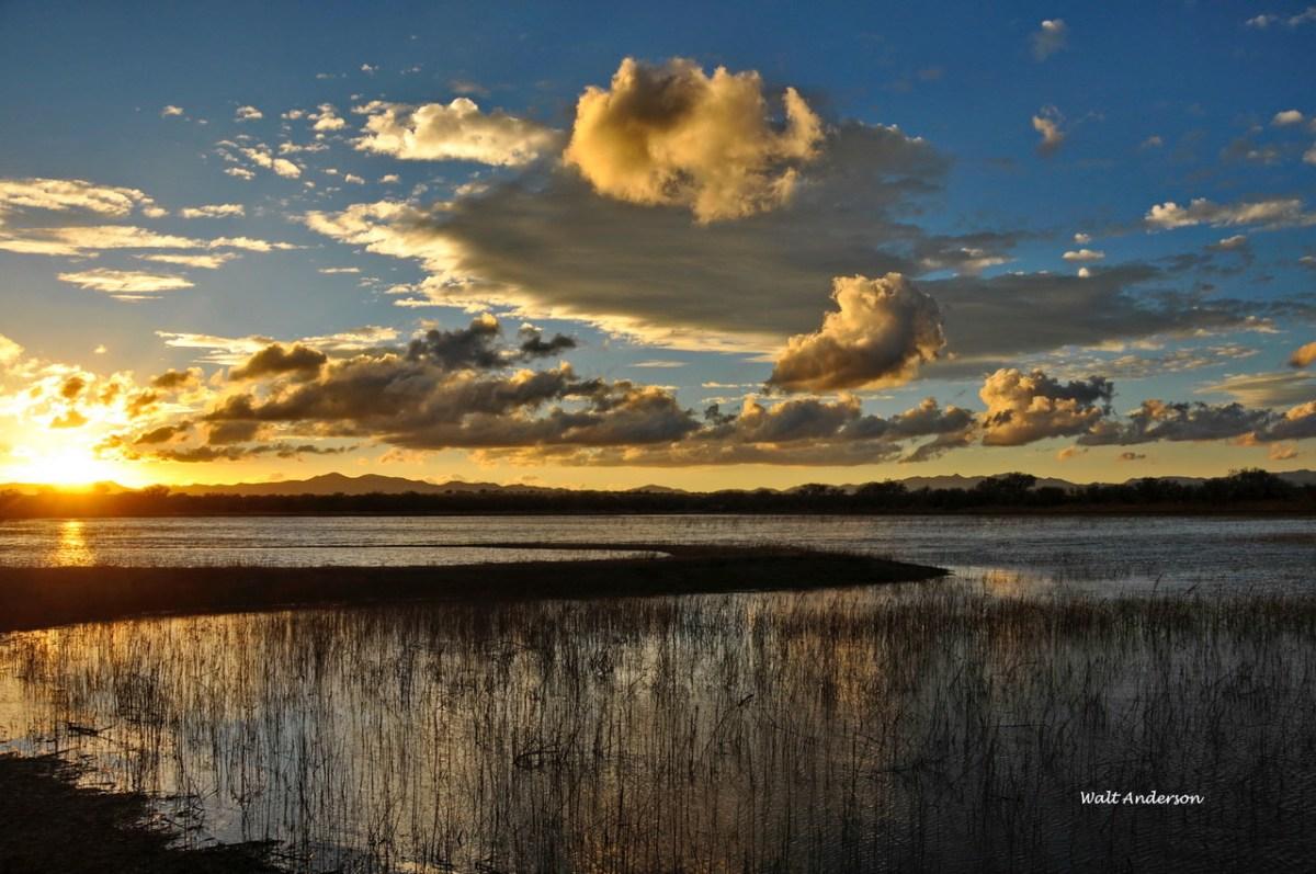 Sunset, Grebe Pond, BANWR