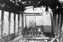 """An abandoned Victoria streetcar."" RBCM&A/E-01981."