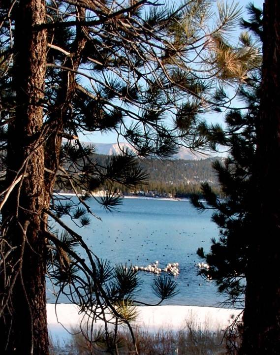 View of Big Bear Lake from proposed Moon Camp site