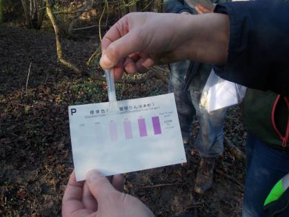 Walk To The Source - 30/01/2016. - Testing water quality at the spring of the source. - Checking for Phosphates.