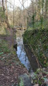 Brislington Brook leading away from the Tunnel.