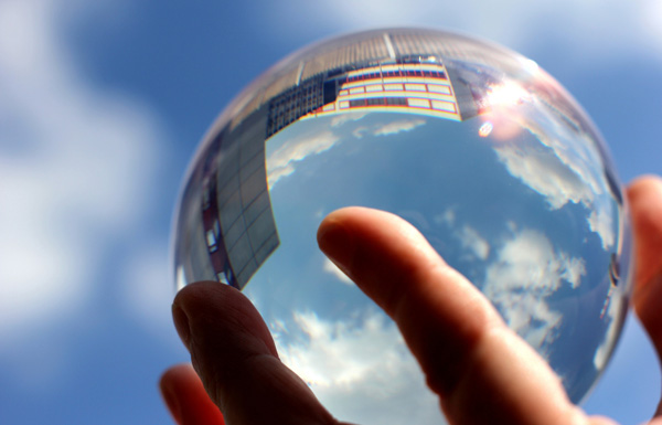 crystal ball to see the future