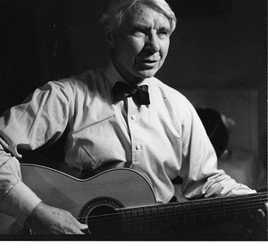 Carl Sandburg with guitar