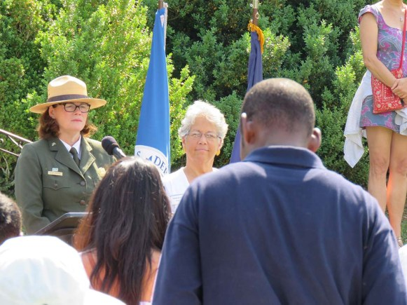 Park Superintendent Lucy Lawliss and Friends of Chatham, President, Lynda Baer