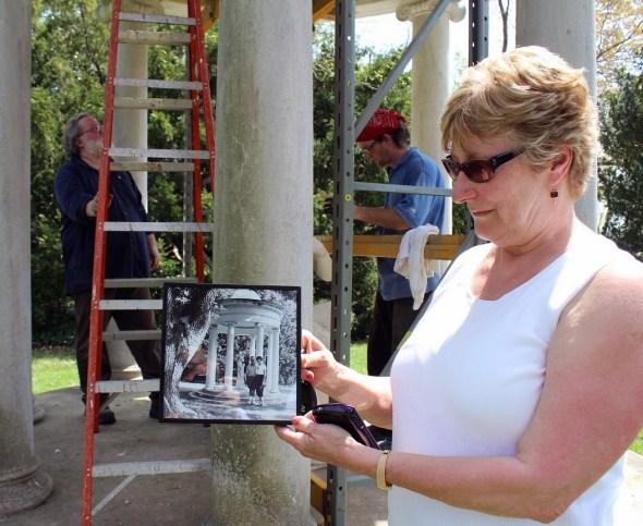 Patsy Thompson of the Rappahannock Valley Garden Club