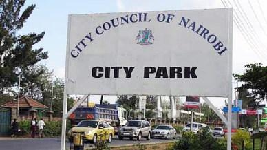 Entrance sign off Limuru Road