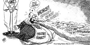 Madd cartoon in the Daily Nation March 1997