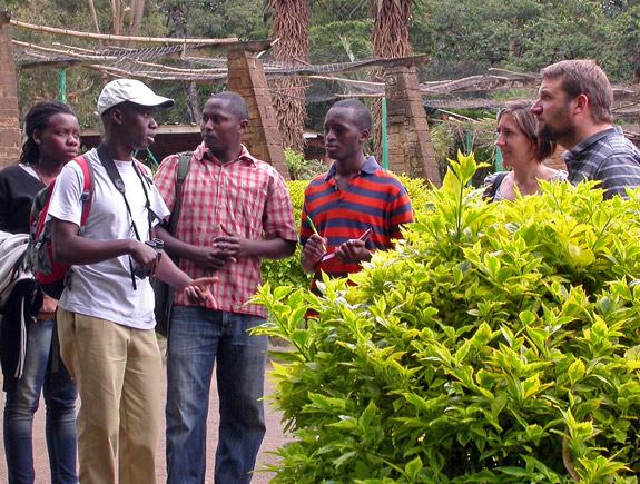On nature walk at City Park at City Park Nairobi