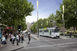 artist's impression unveiled by the Melbourne City Council