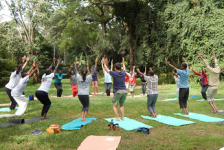A Beautiful Green Cool Day To do Yoga 2019. [Photo Credit: Yoga Kenya]
