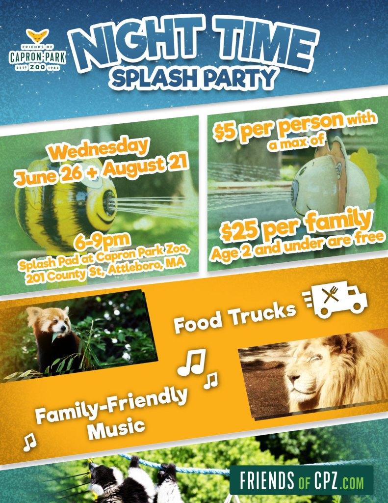 Splash Party Capron Park Zoo