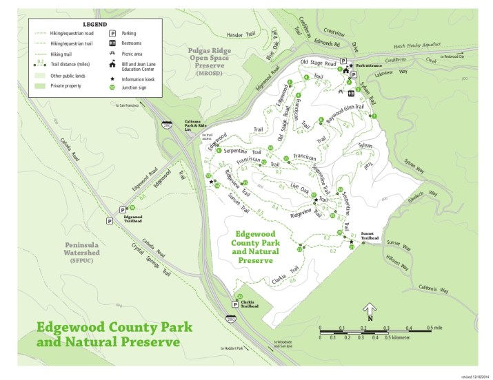 Edgewood Park Trail Map