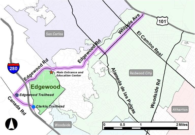 Street Map of Edgewood Park
