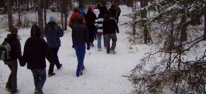 Winter Walk Day at Hull's Wood