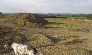 25 July '14 - topsoil heaped out of the way
